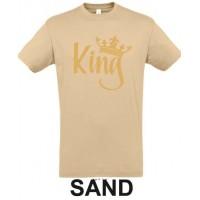 King - KULDSE KIRJAGA  T-särk