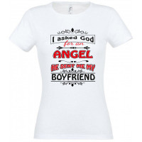 I asked god for an angel he sent me my boyfriend T-särk