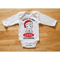 Emme ja issi väike jõulubeebi beebi body