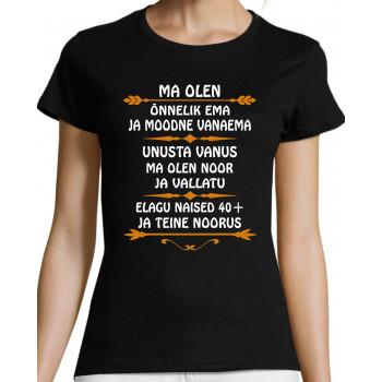 Ma olen õnnelik EMA ja moodne Vanaema T-särk