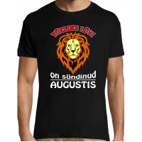 Tõeline Lõvi on sündinud Augustis Meeste - Naiste T-särk