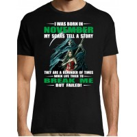 I was born in november my scars tell a story they are a reminder of times but failed T- shirt