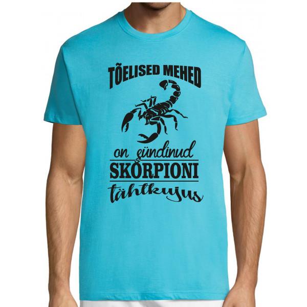 Tõelised mehed on sündinud skorpioni tähtkujus T-särk