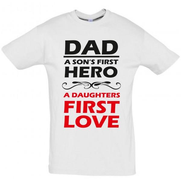 Dad a sons first hero T-särk