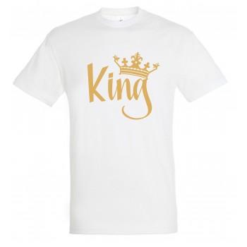 King T-särk ( kulda meenutava kirjaga )