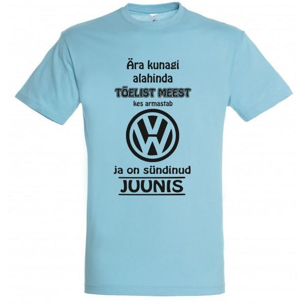 Ära kunagi alahinda meest kes armastab Volkswagen ja on sündinud