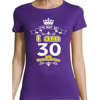 i'm not 30 i am 20 with 10 years experience T-särk Meestele/Naistele