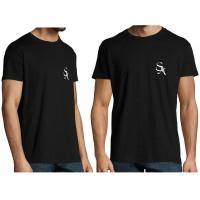 Väike logo UNISEX must T-särk Meetele / Naistele