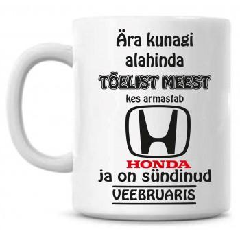Ära kunagi alahinda tõelist meest, kes armastab Honda ja on sündinud tass