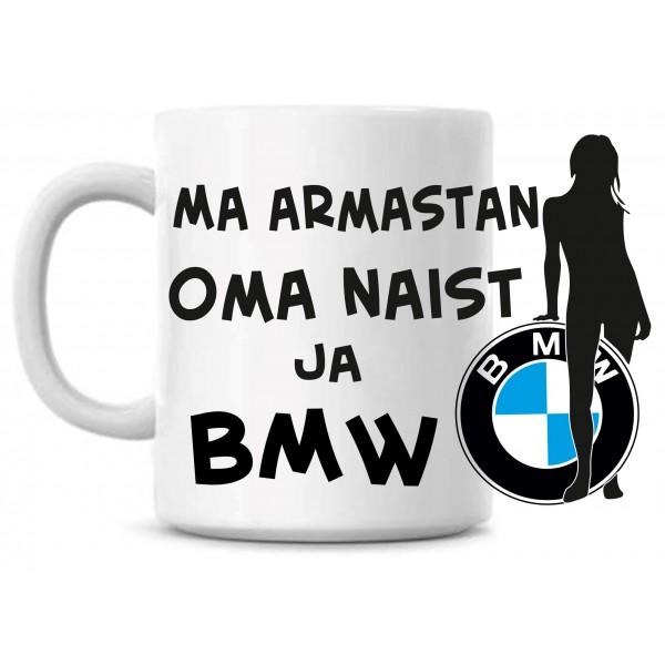 Ma armastan oma naist ja BMW tass -2