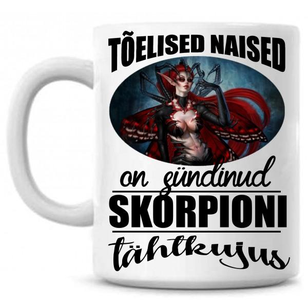 Tõelised naised on sündinud Skorpioni tähtkujus tass