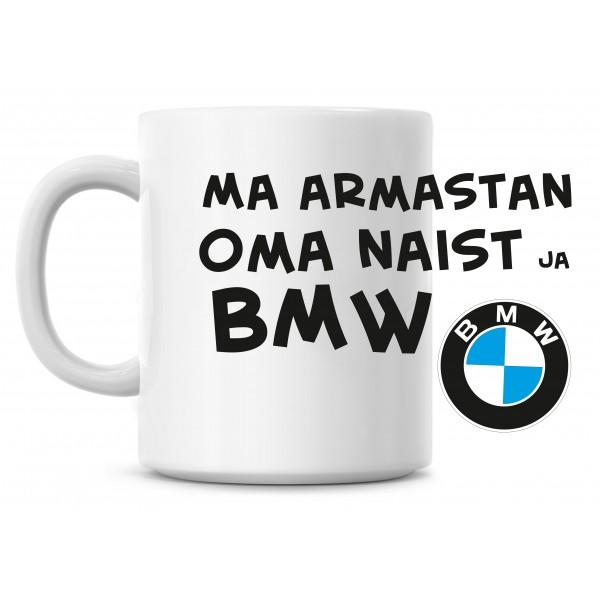 Ma armastan oma naist ja BMW tass